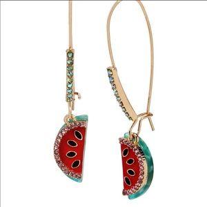 Betsey Johnson watermelon drop earrings
